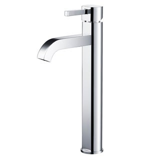 KRAUS Ramus Single Hole Single-Handle Vessel Bathroom Faucet with Pop-Up Drain