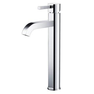 kraus ramus single hole vessel bathroom faucet with popup drain