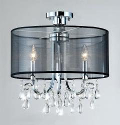 Clear Crystal 3-light Ceiling Fixture - Thumbnail 2