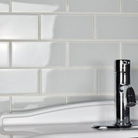 Somertile 3x6 Inch Reflections Subway Ice White Gl Wall Tile 80 Tiles 10