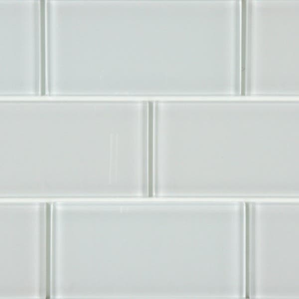 Somertile 3x6 Inch Reflections Subway Ice White Gl Wall