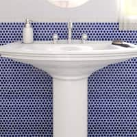 SomerTile 12x12.625-inch Penny Cobalt Blue Porcelain Mosaic Floor and Wall Tile (10 tiles/10.2 sqft.)