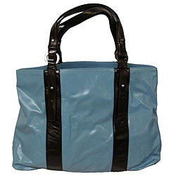 ABBYSON LIVINGTwo-tone Italian Leather Handbag