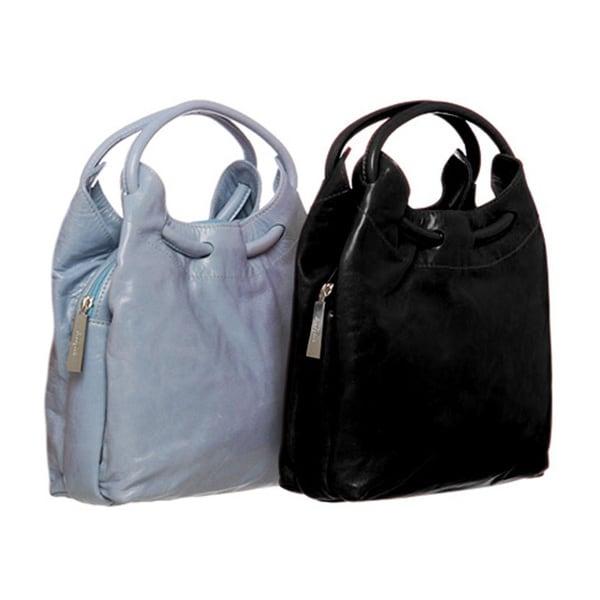 ABBYSON LIVINGCosmo Italian Leather Hobo-Style Handbag