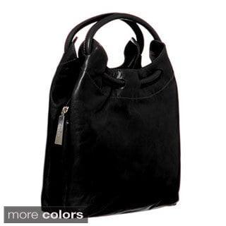 Shop ABBYSON LIVINGCosmo Italian Leather Hobo-Style ...