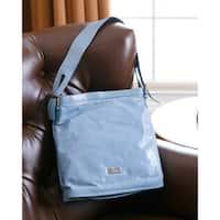Abbyson Cosmo Italian Leather North-South-Style Handbag