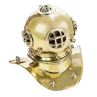US Navy Mark V 8-inch Brass Diving Helmet Replica