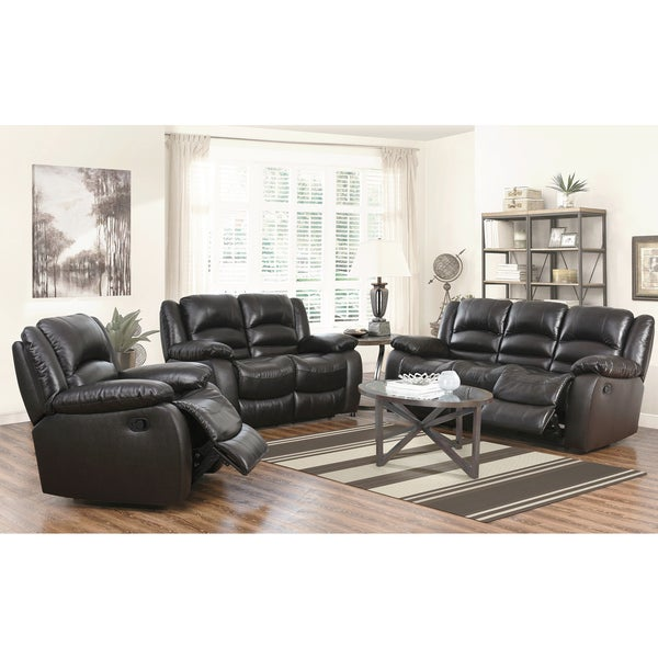 Abbyson Brownstone Premium Top Grain Leather Reclining Sofa Loveseat And Chair Free Shipping
