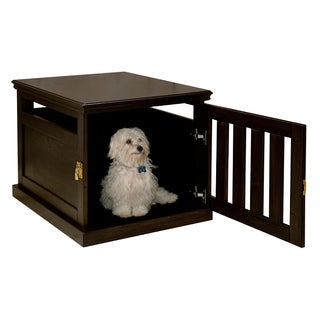 Espresso Furniture-style Dog Crate