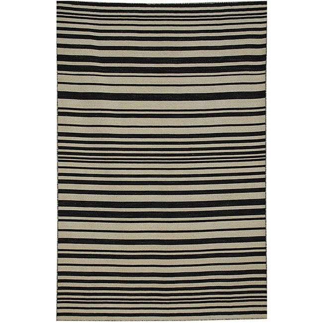Hand-woven Arrah-109 Dhurry Wool Rug (8' x 10')