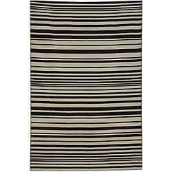 Thumbnail 1, Hand-woven Arrah-109 Dhurry Wool Rug (8' x 10').