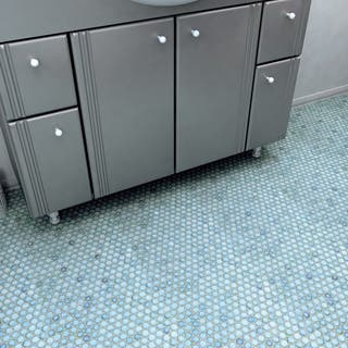 SomerTile 12x12.625-inch Penny Marine Porcelain Mosaic Floor and Wall Tile (10 sheets/10.74sqft.)