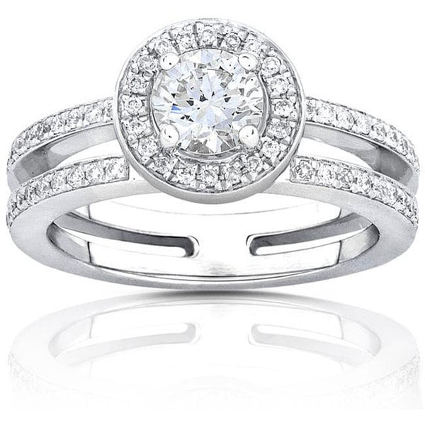Annello by Kobelli 14k Gold 3/4ct TDW Round-cut Diamond Engagement Ring (H-I, I1-I2)