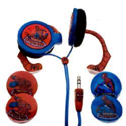 Thumbnail 2, Nemo Digital Spider-man Wraparound Headphones. Changes active main hero.
