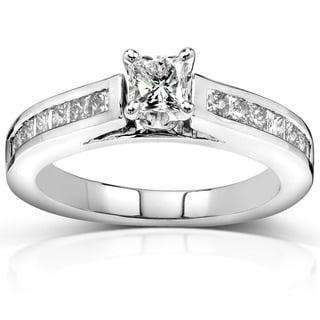Annello by Kobelli 14k Gold 1ct TDW Princess Diamond Engagement Ring (H-I, I1-I2)