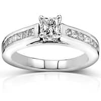 Annello by Kobelli 14k Gold 1ct TDW Princess Diamond Engagement Ring