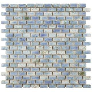 SomerTile 11.75x11.75-inch Samoan Subway Neptune Blue Porcelain Floor and Wall Tile (10 tiles/9.6 sqft.)