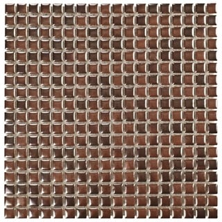 SomerTile 12x12-in Samoan 9/16-in Antique Copper Porcelain Mosaic Tile (Pack of 10)