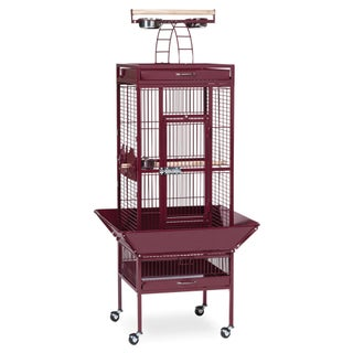 Prevue Pet Products Wrought Iron Select Bird Cage 3151 (Option: Garnet Red - Parakeet/Parrot/Cockatiel - .75 Inch)