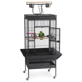 Prevue Pet Products Wrought Iron Select Bird Cage 3152 (Option: Black Hammertone - Parakeet/Parrot/Cockatiel - .75 Inch)