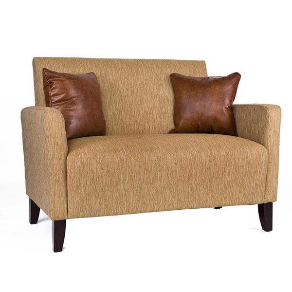 Handy Living Sutton Loveseat Natural Khaki Tan