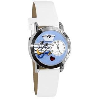 Whimsical Women's Nurse Theme Small Silvertone Watch