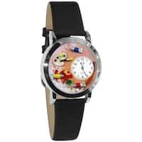 Whimsical Kids' Artist Theme Small Silvertone Watch
