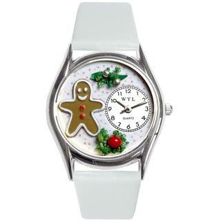Whimsical Women's Christmas Gingerbread Theme Silvertone Watch
