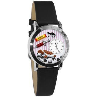 Whimsical Women's Veterinarian Theme Black Leather Strap Watch|https://ak1.ostkcdn.com/images/products/4565704/P12503843.jpg?impolicy=medium