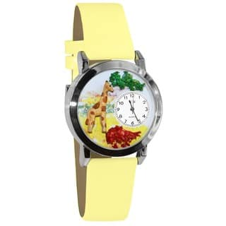 Whimsical Kids' Giraffe Theme Yellow Leather Strap Watch|https://ak1.ostkcdn.com/images/products/4565772/P12503923.jpg?impolicy=medium