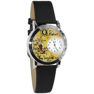 Whimsical Women's Lord's Prayer Black Strap Watch
