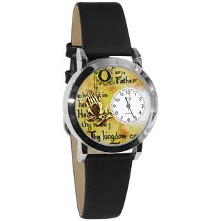Whimsical Women's Lord's Prayer Black Strap Watch|https://ak1.ostkcdn.com/images/products/4565837/P12503957.jpg?impolicy=medium