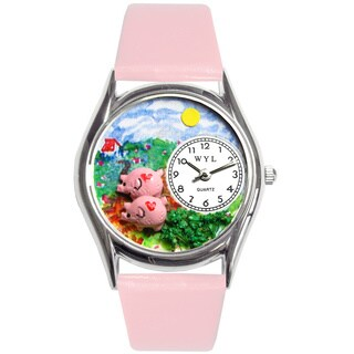 Whimsical Kids' Pigs Theme Watch