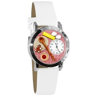 Whimsical Kids' Baking Theme Silvertone Case Watch