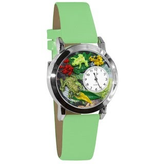 Whimsical Women's Frog-themed Steel Case Watch