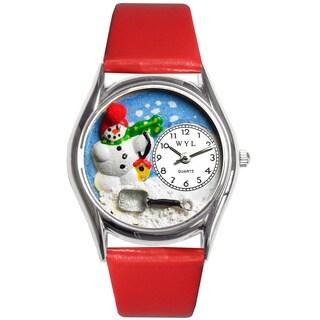 Whimsical Kids' 'Christmas Snowman' Theme Watch