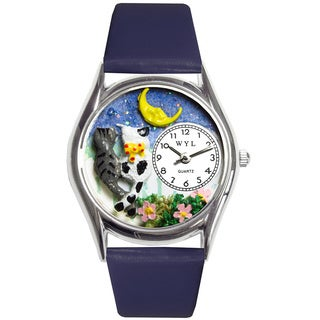 Whimsical Kids' Cats Night Out Theme Silvertone Case Watch