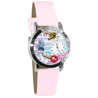 Whimsical Kids' Teen Girl Theme Silvertone Case Watch