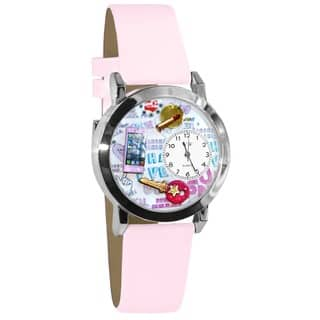 Whimsical Kids' Teen Girl Theme Silvertone Case Watch|https://ak1.ostkcdn.com/images/products/4566121/P12504225.jpg?impolicy=medium