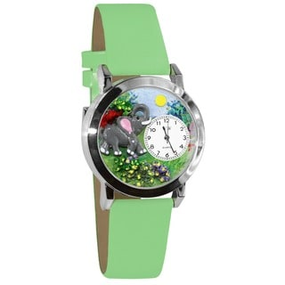 Whimsical Kids' Elephant Theme Silvertone Watch