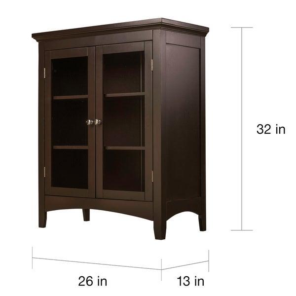 Classique Espresso Double-door Floor Cabinet - Free Shipping Today ...