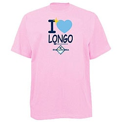 Official Evan Longoria Women's 'I heart Longo' Pink T-shirt