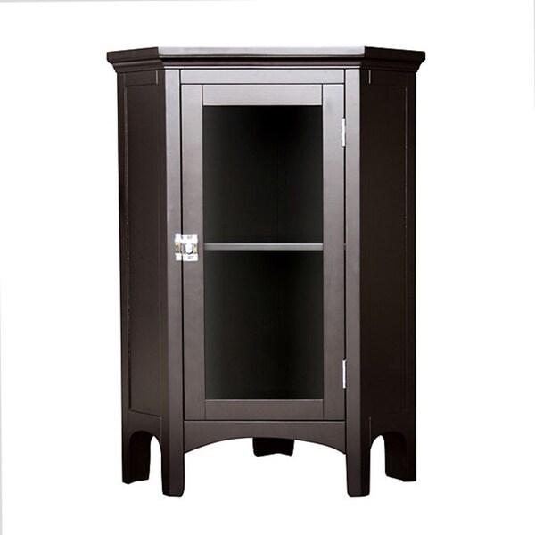 Classique Espresso Corner Floor Cabinet