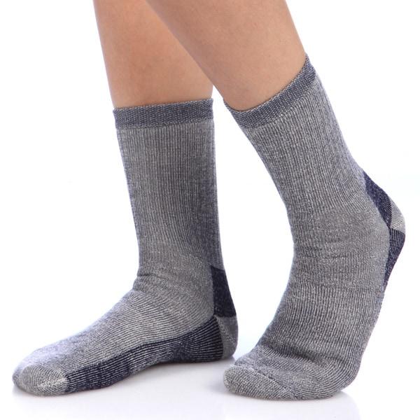 Smart Socks Navy Merino Wool Crew Hiking Socks (Pack of 3)