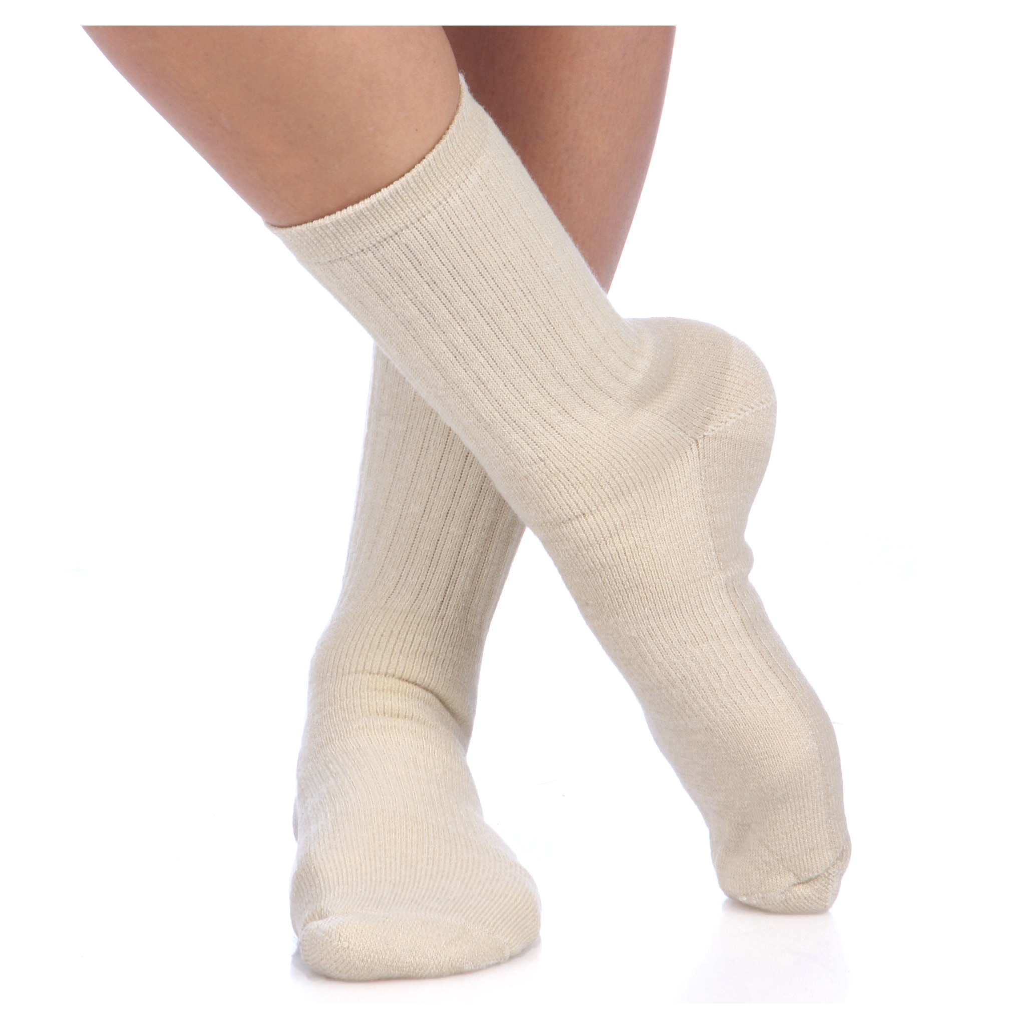 Smart Socks Tan Merino Wool Crew Hiking Socks (Pack of 3)...
