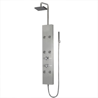 Ariel A301 Stainless Steel Shower Panel with Thermostatic Faucet