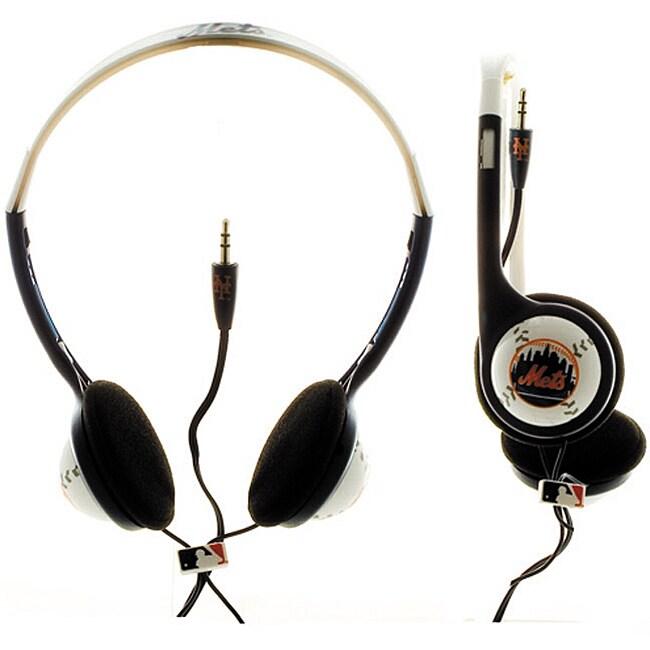 Nemo Digital MLB New York Mets Logo Baseball Overhead Headphones