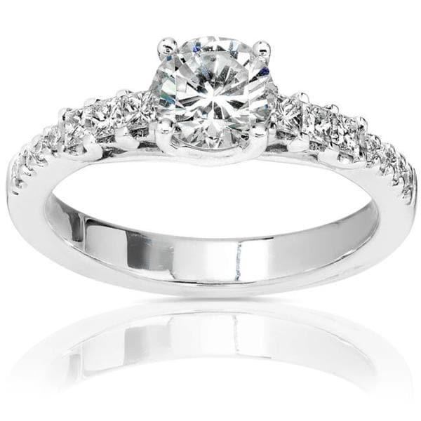Annello by Kobelli 14k Gold 1 1/5ct TDW Diamond Engagement Ring (H-I, I1-I2)