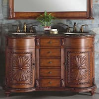 Silkroad Exclusive Waterford Double-sink Bathroom Vanity