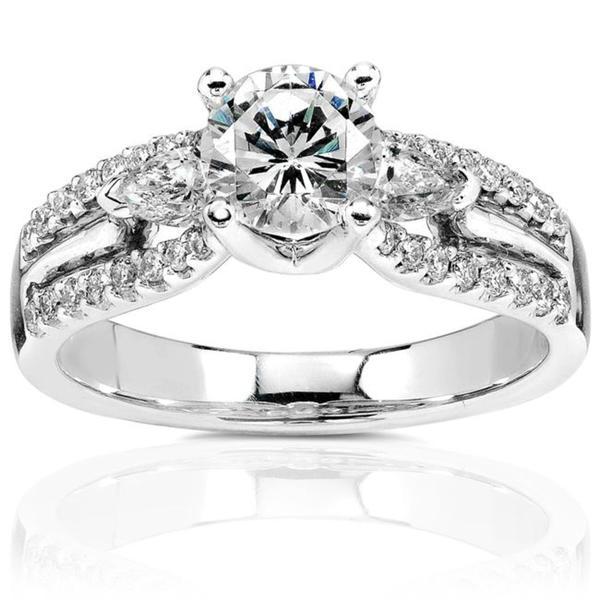 Annello by Kobelli 18k Gold 1 3/8ct TDW Diamond Engagement Ring (H-I, I1-I2)